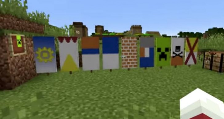 Minecraft banner crafting with new Snapshot
