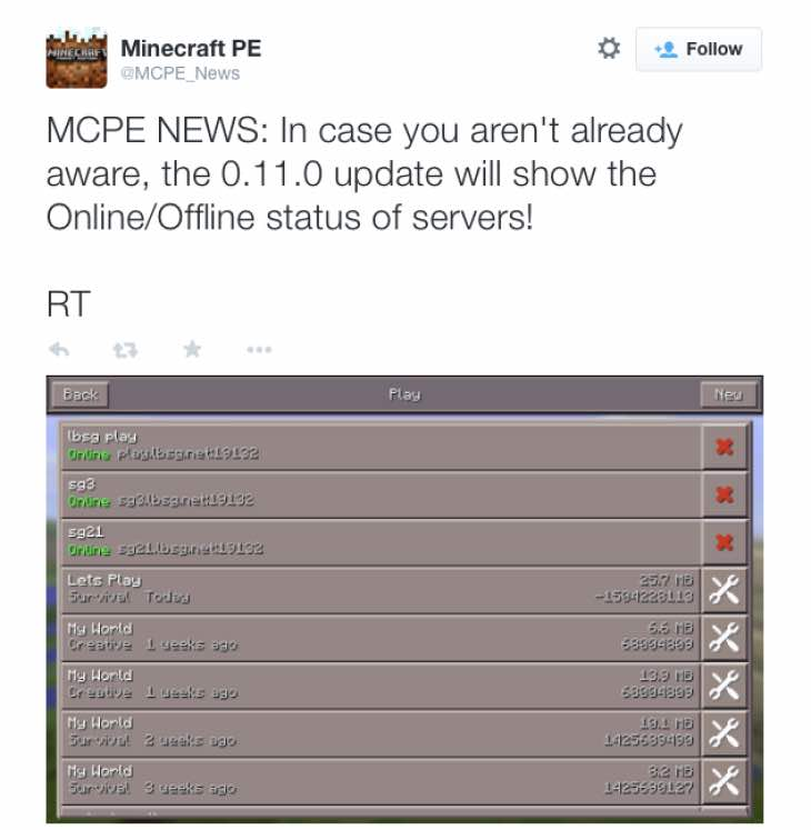 minecraft-pe-server-status