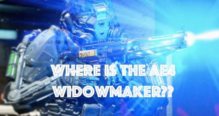 New Advanced Warfare update for missing AE4 Widowmaker