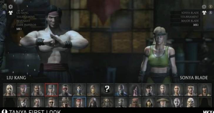 Mortal Kombat X MK1 skins gameplay for Liu Kang, Sonya