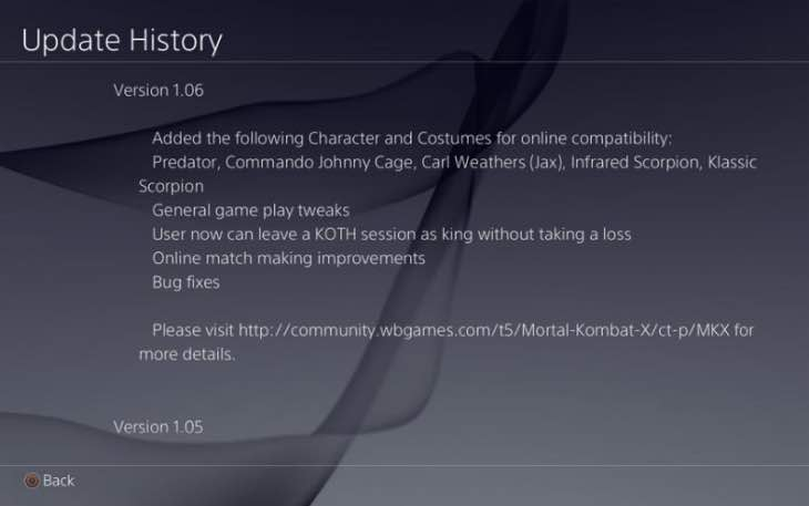 mortal-kombat-x-1.06-update-ps4