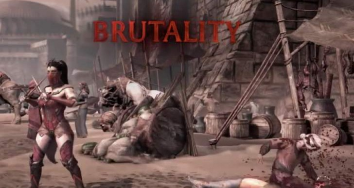 Mortal Kombat X Blanche Stage Brutality buttons