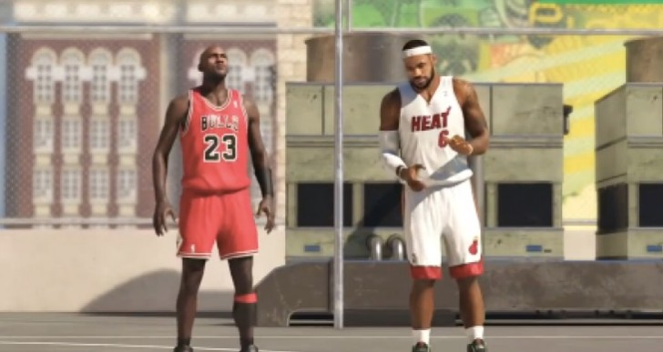 NBA 2K14 PS4 Michael Jordan Vs Lebron James