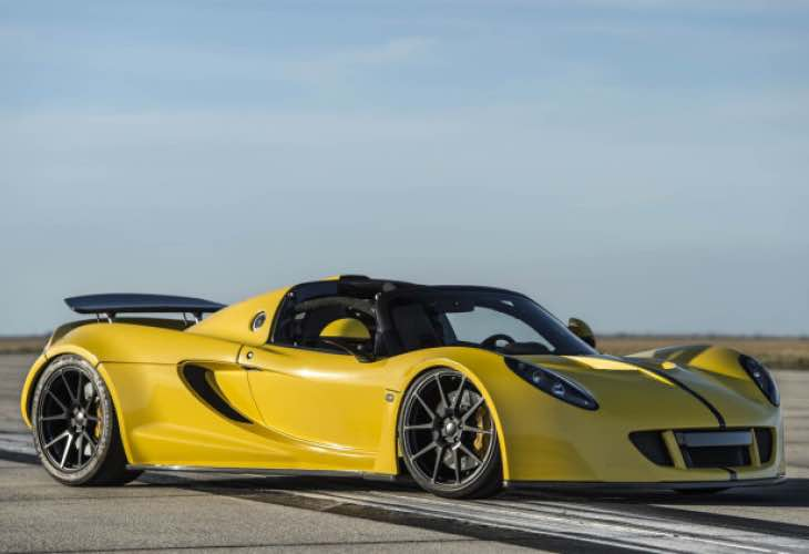 new Hennessy Venom GT Spyder speed record