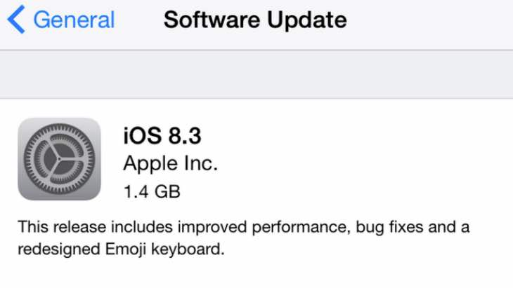 iOS 8.3 new features list from Apple notes
