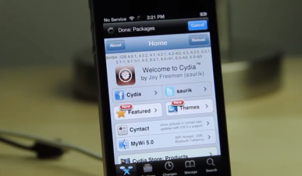 iOS 6.1 jailbreak visualized on iPhone with beta 4