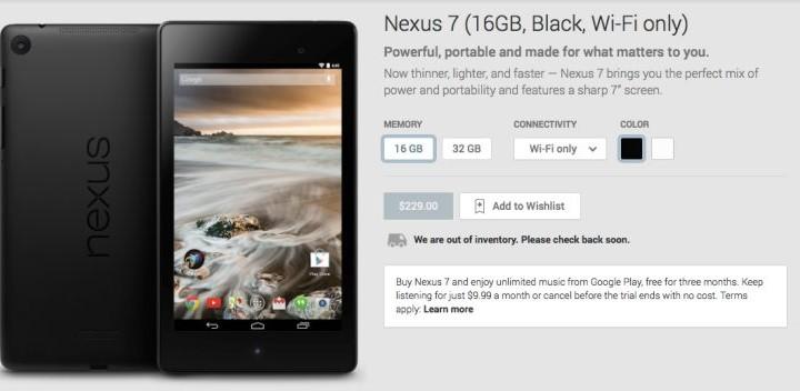 Nexus 7 stock signals 8, or 9-inch 2014 release