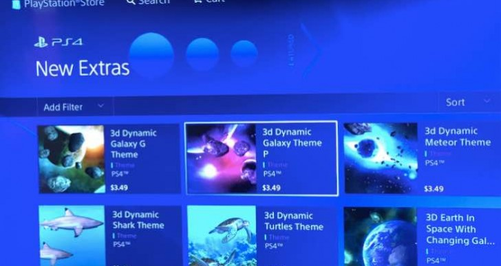 New PS4 themes live in US, not free either