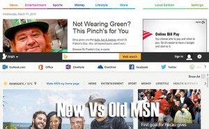 Bing Vs new MSN with social sign-in options
