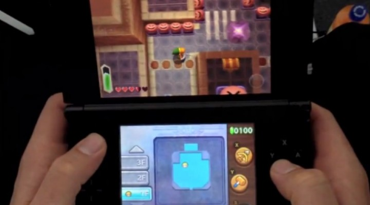 Zelda 3DS demo gameplay shows dungeon walkthrough