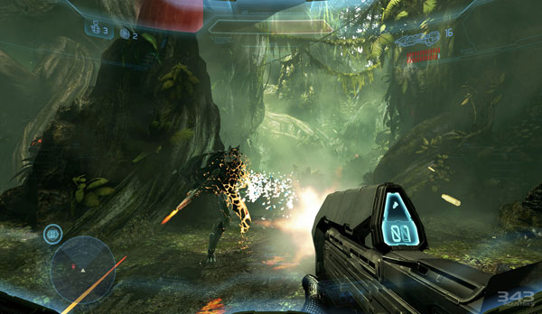 Halo 4 gameplay on Longbow map