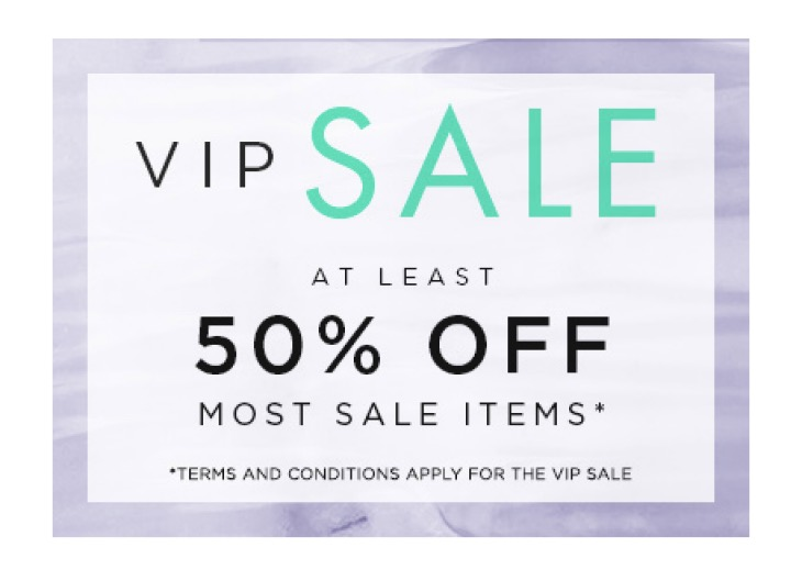 Next VIP Sale Slots for 2017 with 50% Off