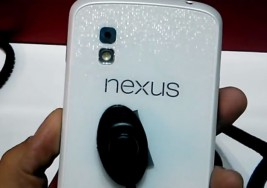 Nexus 4 in Black and White captured on video