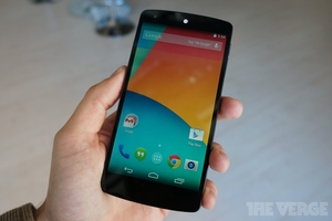 Nexus 5 announced: 5-inch display, quad core chip and 8MPix camera