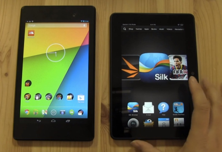 Nexus 7 2013 Vs Kindle Fire HDX 7 review in 10 minutes ...