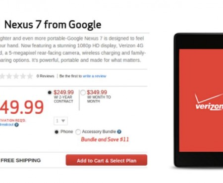 Verizon Nexus 7 LTE with Android 4.4.2 update