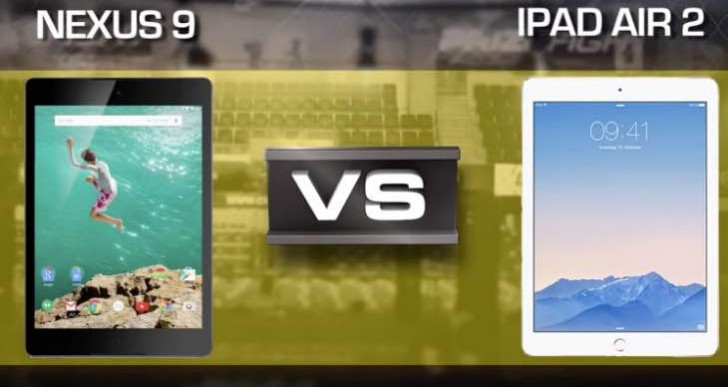 Nexus 9 Vs iPad Air 2 review picks Apple as winner