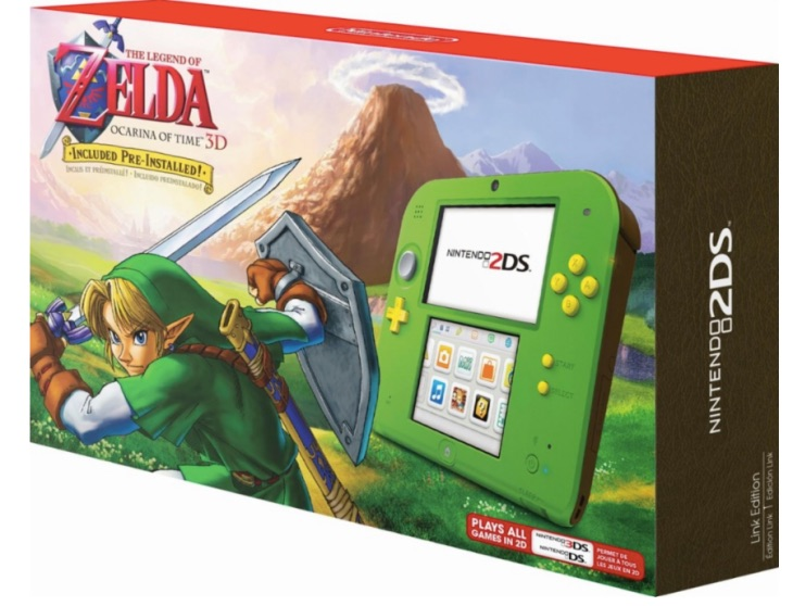 Nintendo 2DS Link Green stock at Best Buy Vs Walmart