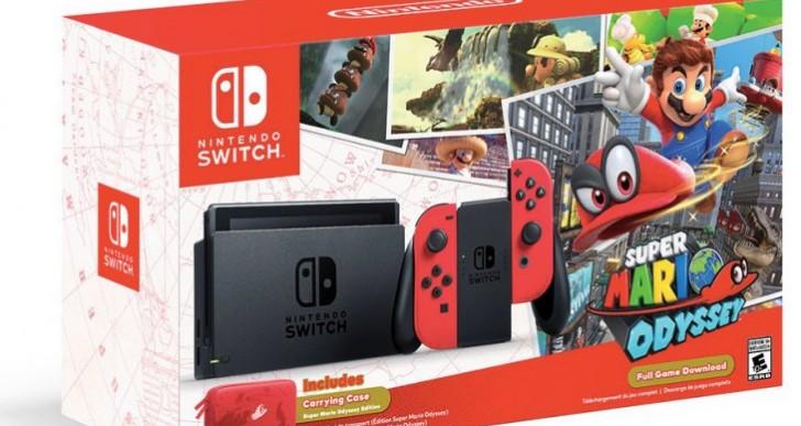 Nintendo Switch bundle with Super Mario Odyssey best price