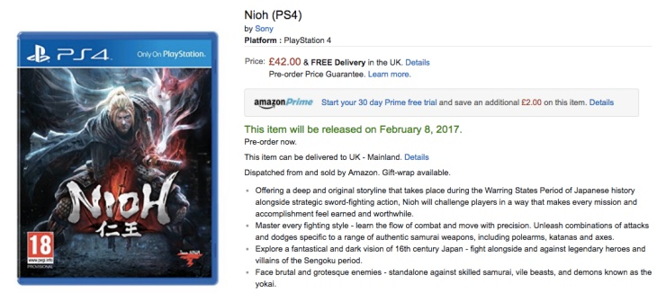 nioh-price-amazon-uk