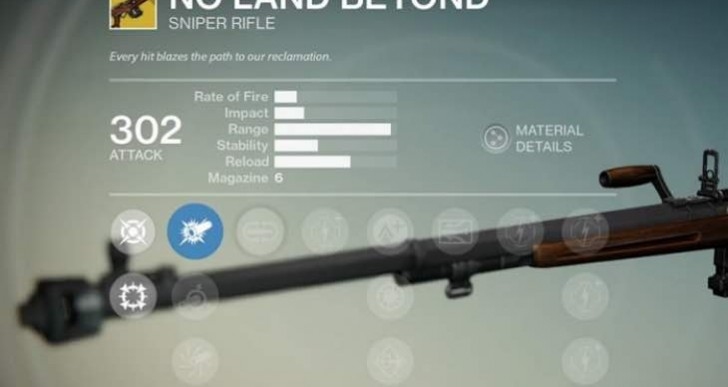 First Destiny No Land Beyond gameplay and stats