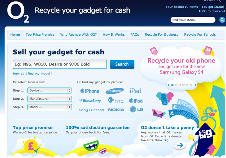 Sell your iPhone at O2 Recycle for cash