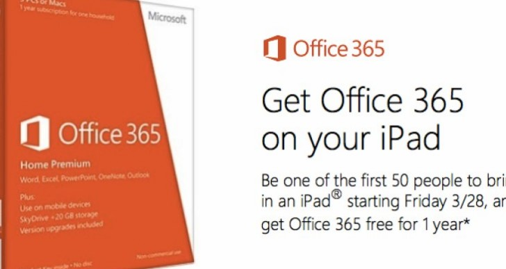Office for iPad free promotion
