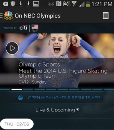 Are you tuning into the action from Sochi 2014 using the NBC app?