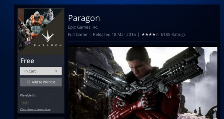 Paragon beta PS4 download from US, UK PS Store