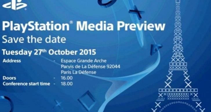 Paris Games Week 2015 start time for Sony PS4 news
