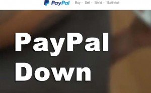 PayPal sign in problems, down with server error