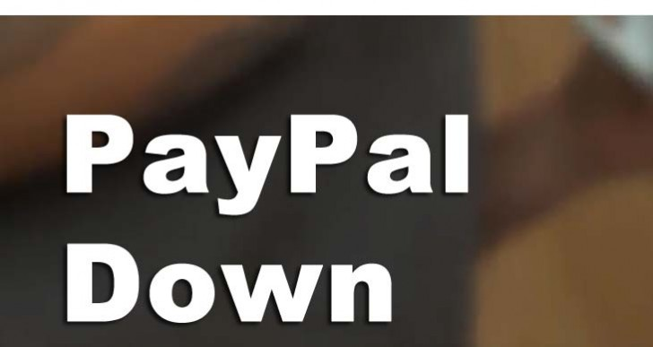 PayPal sign in outage with server error