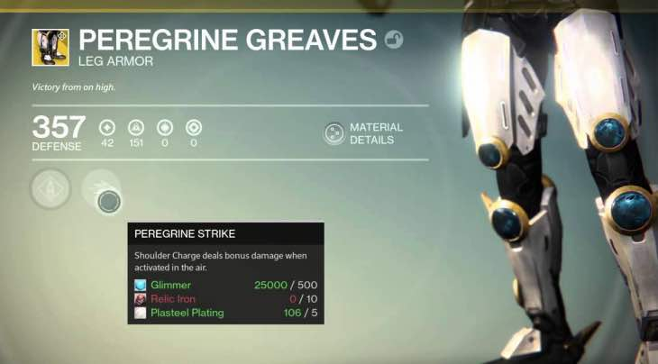 Us Auto Sales >> Destiny Peregrine Greaves review after players say OP ...