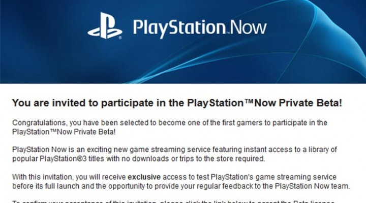 PlayStation Now private beta PS3 vs. PS4 invite code