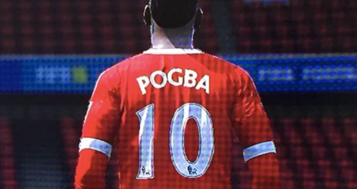 Pogba in Man Utd shirt before FIFA 17 transfer