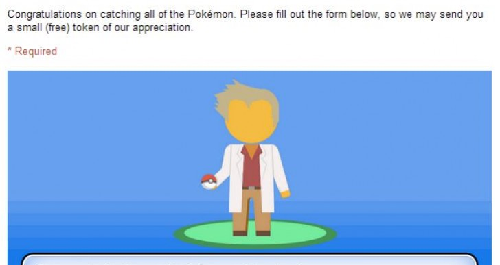 Pokemon Google Maps prize
