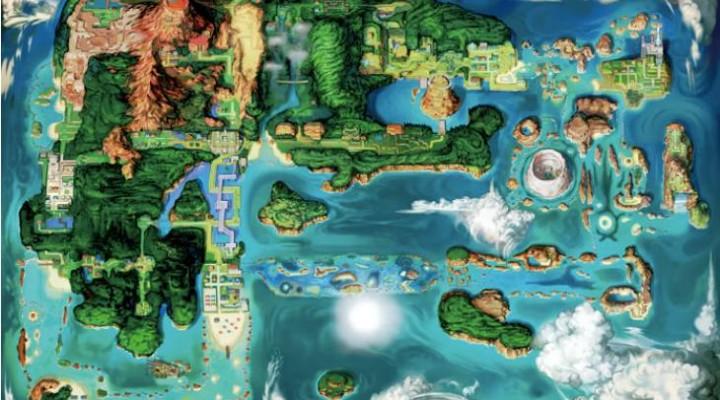 Pokemon Omega Ruby, Alpha Sapphire Hoenn map in full