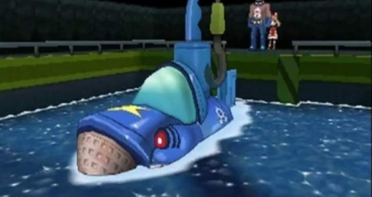 Pokemon Omega Ruby, Alpha Sapphire: Mega Sharpedo as submarine