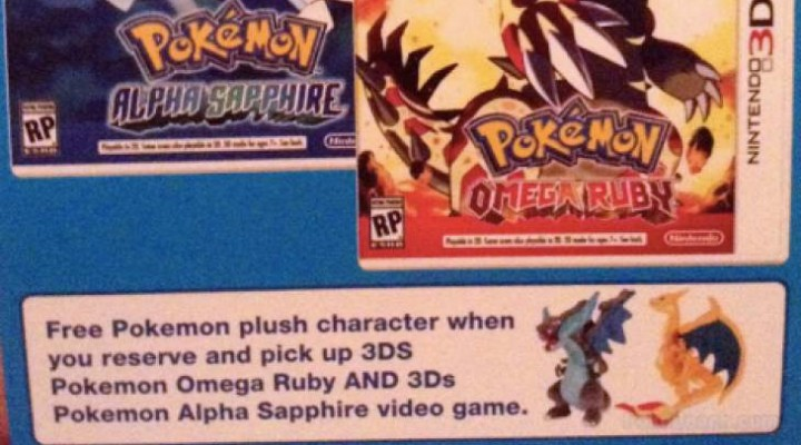 Pokemon Omega Ruby, Alpha Sapphire pre-order with Charizard gift