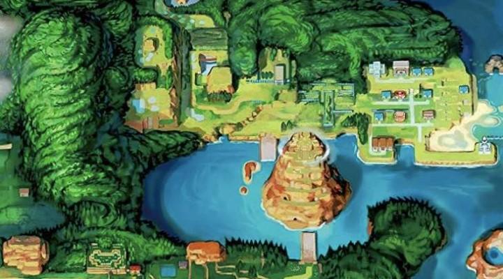 Pokemon ORAS Hoenn Map download in HD