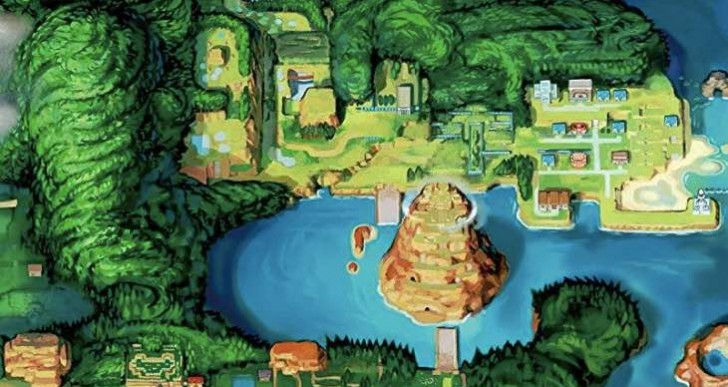Pokemon ORAS Hoenn Map download in HD