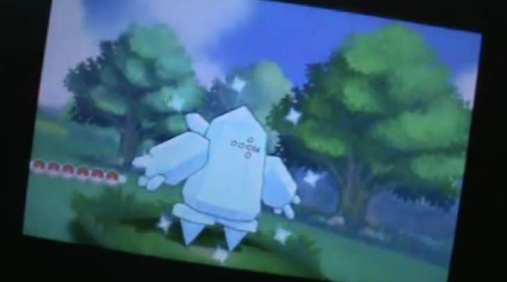 Pokemon ORAS Shiny Regice with no Legendary lock