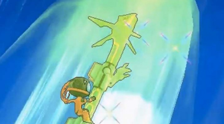 Pokemon ORAS Mega Rayquaza Vs Legendary Deoxys gameplay