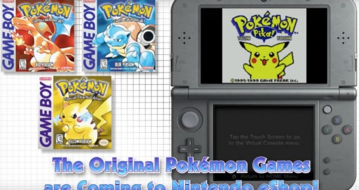 Pokemon Red, Blue, Yellow 3DS release date joy