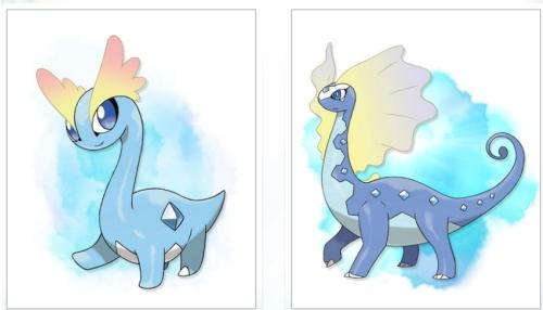 Amaura evolving into Aurorus