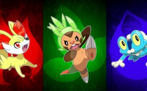 Pokemon X and Y final starter evolutions visualized