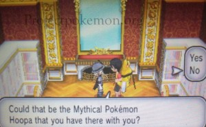 Pokemon X and Y Volcanion, Hoopa event dialogue