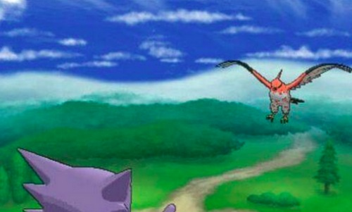 We could see Mega Gengar in the skies as well..