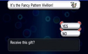 Pokemon X and Y Fancy Pattern Vivillon Hold hands purpose
