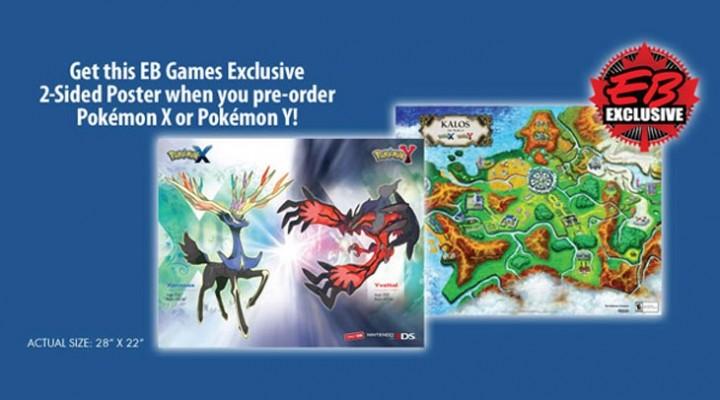 Pokemon X and Y poster in pre-order bonus